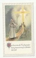 Souvenir Communion Solennelle Dentelle Papier Communieprentje Met Kant Michelle RENIER Robertville 1962 - Communion