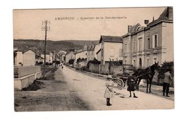 CPA 01 - Amberieu - Quartier De La Gendarmerie, Attelage - France