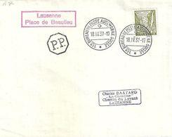 Schweiz 1937: Zu 194 Mi 270 Yv 271 O 194 O Lausanne Place De Beaulieu PP 18.IV.37 BUREAU POSTE AUTOMOBILE (Zu CHF 11.00) - Suisse