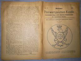 ILLUSTRATED STAMPS JOURNAL- ILLUSTRIERTES BRIEFMARKEN JOURNAL MAGAZINE SUPPLEMENT, LEIPZIG, NR 5, 1891, GERMANY - Riviste