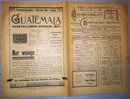 ILLUSTRATED STAMPS JOURNAL- ILLUSTRIERTES BRIEFMARKEN JOURNAL MAGAZINE SUPPLEMENT, PRICE LIST, LEIPZIG, 1901, GERMANY - Riviste