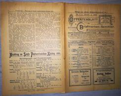 ILLUSTRATED STAMP JOURNAL-ILLUSTRIERTES BRIEFMARKEN JOURNAL MAGAZINE PRICE LIST, LEIPZIG, NR 1, 1902, GERMANY - Riviste