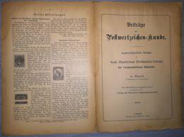 ILLUSTRATED STAMP JOURNAL-ILLUSTRIERTES BRIEFMARKEN JOURNAL MAGAZINE SUPPLEMENT, LEIPZIG, NR 4/13, 1902, GERMANY - Riviste