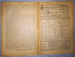 ILLUSTRATED STAMP JOURNAL-ILLUSTRIERTES BRIEFMARKEN JOURNAL MAGAZINE PRICE LIST, LEIPZIG, NR 12, 1900, GERMANY - Riviste