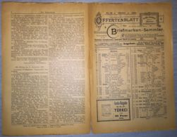 ILLUSTRATED STAMP JOURNAL-ILLUSTRIERTES BRIEFMARKEN JOURNAL MAGAZINE PRICE LIST, LEIPZIG, NR 10, 1900, GERMANY - Riviste