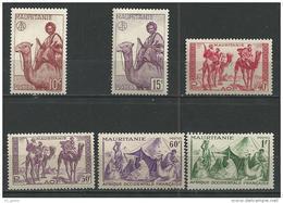 """Mauritanie YT 125 à 130 """" Série Ss RF """" 1943-44 Neuf** - Mauritanie (1906-1944)"""