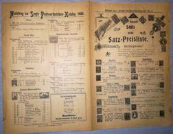 ILLUSTRATED STAMP JOURNAL-ILLUSTRIERTES BRIEFMARKEN JOURNAL MAGAZINE PRICE LIST, LEIPZIG, NR 5, 1901, GERMANY - Magazines