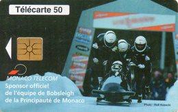 Telecarte Monaco Sponsor Officiel De Bobsleigh - Monaco