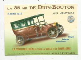 Cp, COLLECTION LES ANCETRES DE L'AUTOMOBILE , La 35 HP DE DION-BOUTON , Puteaux , Vierge - Voitures De Tourisme