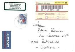 RACCOMANDATA X ITALIA - Storia Postale