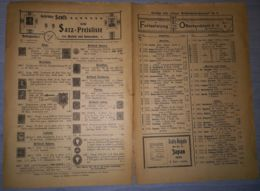 ILLUSTRATED STAMP JOURNAL-ILLUSTRIERTES BRIEFMARKEN JOURNAL MAGAZINE PRICE LIST, LEIPZIG, NR 8, 1901, GERMANY - Magazines