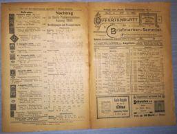 ILLUSTRATED STAMP JOURNAL-ILLUSTRIERTES BRIEFMARKEN JOURNAL MAGAZINE PRICE LIST, LEIPZIG, NR 9, 1901, GERMANY - Magazines