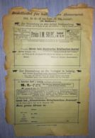 ILLUSTRATED STAMP JOURNAL- ILLUSTRIERTES BRIEFMARKEN JOURNAL MAGAZINE SUBSCRIPTION ORDER, 1901, GERMANY - Riviste