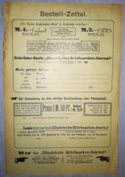 ILLUSTRATED STAMP JOURNAL- ILLUSTRIERTES BRIEFMARKEN JOURNAL MAGAZINE SUBSCRIPTION ORDER, 1903, GERMANY - Riviste