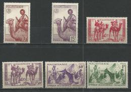 """Mauritanie YT 125 à 130 """" Série Ss RF """" 1943-44 Neuf* - Mauritanie (1906-1944)"""