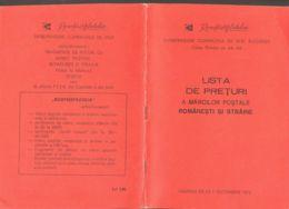 ROMANIAN AND FOREIGN STAMPS PRICE LIST MAGAZINE, 1975, ROMANIA - Revistas