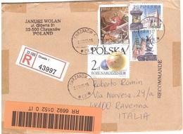 RACCOMANDATA X ITALIA CON BOZE NARODZENIE NATALE - Covers & Documents