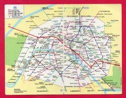 PLAN DU METRO - SUBWAY MAP - METRO - PARIS - Années 70 - 70's - PUBLICITE - ADVERTISEMENT - DARTY - - Europe