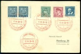Deutsches Reich 17-3-1939 Besetzung Tschechoslowakei Brief Mit Sonderstempel Prag Rot - Occupation 1938-45