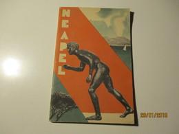 ITALY 1936 NEAPEL NAPLES TOURISM BROCHURE WITH MAPS , DIREZIONE GENERALE PER IL TURISMO , Nude Art , O - Dépliants Turistici