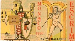 Telecarte Monaco Escrime - Monaco