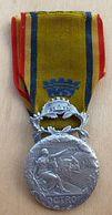 D3-1203 Médaille Signée C.Toudray OCTROI Avec Son Rubanrouge/bleu Ministère De L'Intérieur - Militaria