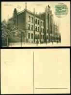 Polen 1922 Postkarte Bytom (Beuthen) Haute Silésie Gymnasium - Poland