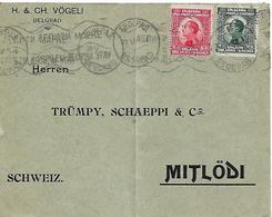 SERBIA CROATIA SLOVENIA 1925 Cover Sent To Mitlodi 2 Stamps COVER USED - Bosnie-Herzegovine