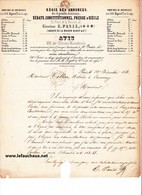 Lettre D'Avis  De 1853 - Régie Des Annonces Des 4 Grands Journaux - Maison Bigot - Paris. - Imprimerie & Papeterie