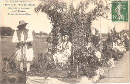 Dépt 85 - LUÇON - Festival Et FÊTE De FLEURS Organisés En L'honneur Du 1er Dragons (28 Juin 1914) Phototypie Vassellier - Lucon