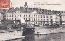Carte 1910 NANTES / Le Pont D'erdre Reliant Le Quai Brancas Au Quai Flesselles - Nantes