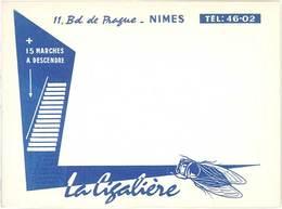 Carte Commerciale Pub : La Cigalière , Nimes, + 15 Marches à Descendre ( Cigale ) - Publicités
