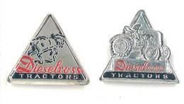 2 Badges Métalliques Tracteurs Dieselross - Publicités