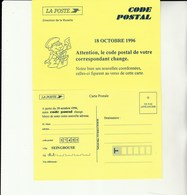E 1 - Carte De Changement De Code Postal SEINGBOUSE - Documents De La Poste