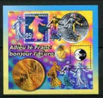11028 FRANCE   N°35 **  3éme Biennale De Paris : Adieu Le Franc Bonjour L'€uro   2002  SUPERBE - CNEP