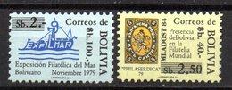 Serie  Nº 579/80  Bolivia - Barcos