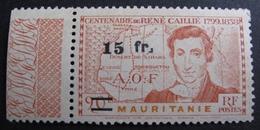 DF50500/139 - 1944 - COLONIES FR. - MAURITANIE - N°137 (*) BdF - Dent Sup Droite Réparée - Mauritanie (1906-1944)