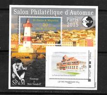 FRANCE 70 Salon Philatélique D'automne Paris 2015 Saint Pierre Et Miquelon . - CNEP