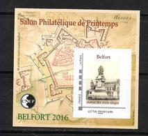 FRANCE 71 Salon Philatélique De Printemps  Belfort 2016 . - CNEP