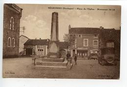Négrondes Place De L'église Monument Aux Morts - France