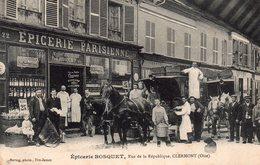 CPA De CLERMONT - Epicerie BOSQUET,rue De La République. - Clermont