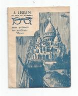 Petit Calendrier - J. Leslin - Optique,photo,cinéma -Plan Du Métro.1951 - Calendriers