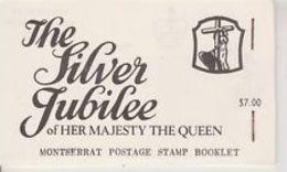 90670) 1977 SILVER GIUBILEO  Francobolli LIBRETTO -MNH** - Montserrat