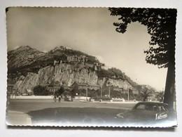 Carte Postale : 38 GRENOBLE : La Place De La Bastille, La Bastille Et Le Fort Du Rabot, Voitures Années 1950 - Grenoble