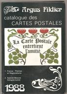 CPA CATALOGUE DES CARTES POSTALES ARGUS FILDIER De 1988 Spécial Beauce Sologne Loiret - Livres