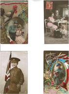 Militaria-guerre 14.18..LOT De 20 CPa,Patriotiques,Alsace,poilus Enfants Etc ...Voir Scans - Postcards