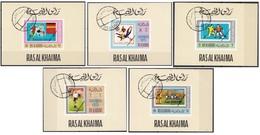 Lotto A11 Ras Al Khaima 1970 Philympia Imperf. CTO Francobolli Su Francobolli - Ra's Al-Chaima