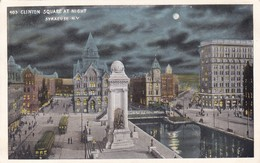 ETATS UNIS. NEW YORK. SYRACUSE. CLINTON SQUARE AT NIGHT - Syracuse
