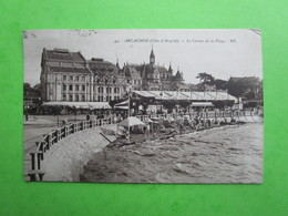 ARCACHON - Le Casino De La Plage (envoyée En 1930) -  Carte Postale - Arcachon
