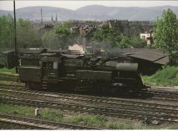 Railway Postcard East German Class 65.10 65.1049 Saalfeld 1978 2-8-4T Loco - Trains